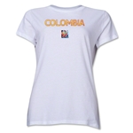 Colombia FIFA Women's World Cup Canada 2015(TM) Women's T-Shirt (White)