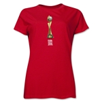 FIFA Women's World Cup Canada 2015(TM).Women's Trophy 2 T-Shirt (Red)