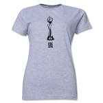 FIFA Women's World Cup Canada 2015(TM).Women's French Trophy 1 T-Shirt (Grey)