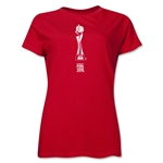 FIFA Women's World Cup Canada 2015(TM).Women's French Trophy 1 T-Shirt (Red)