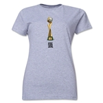 FIFA Women's World Cup Canada 2015(TM).Women's French Trophy 2 T-Shirt (Grey)