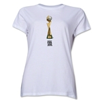 FIFA Women's World Cup Canada 2015(TM).Women's French Trophy 2 T-Shirt (White)