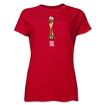 FIFA Women's World Cup Canada 2015(TM).Women's French Trophy 2 T-Shirt (Red)