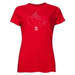 FIFA Women's World Cup Canada 2015(TM) Women's Canada Outline T-Shirt (Red)