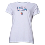 USA FIFA Women's World Cup Canada 2015(TM) Women's T-Shirt (White)