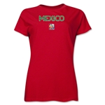 Mexico FIFA Women's World Cup Canada 2015(TM) Women's T-Shirt (Red)