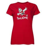 FIFA Women's World Cup Canada 2015(TM) Women's Mascot Pose 3 T-Shirt (Red)