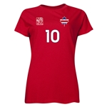 Costa Rica FIFA Women's World Cup Canada 2015(TM) Player Women's T-Shirt (Red)