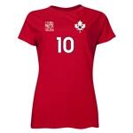 South Korea FIFA Women's World Cup Canada 2015(TM) Player Women's T-Shirt (Red)