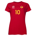 Spain FIFA Women's World Cup Canada 2015(TM) Player Women's T-Shirt (Red)