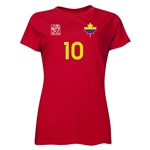 Colombia FIFA Women's World Cup Canada 2015(TM) Player Women's T-Shirt (Red)