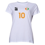 Cote d'Ivoire FIFA Women's World Cup Canada 2015(TM) Player Women's T-Shirt (White)