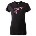 Juventus Women's Distressed T-Shirt (Black)