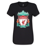 Liverpool Crest Women's T-Shirt (Black)