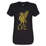 Liverpool Liver Bird Women's T-Shirt (Black)