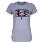Liverpool You'll Never Walk Alone Women's T-Shirt (Gray)