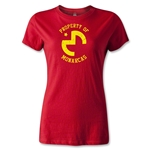 Morelia Monarcas Distressed Property Women's T-Shirt (Red)