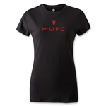 Manchester United MUFC Women's T-Shirt (Black)