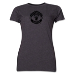 Manchester United Tonal Crest Women's T-Shirt (Dark Gray)