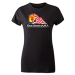One United USA Women's T-Shirt (Black)