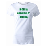 Nigeria 2013 Champions of Africa Women's T-Shirt (White)