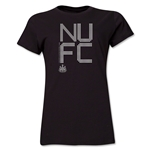 Newcastle United Pixel Graphic Women's T-Shirt (Black)