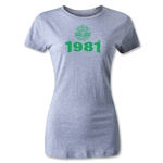 NTV Beleza Distressed 1981 Women's T-Shirt (Gray)