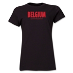 Belgium Powered by Passion Women's T-Shirt (Black)