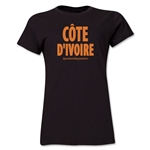 Cote d'Ivoire Powered by Passion Women's T-Shirt (Black)