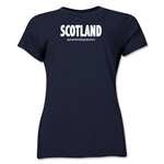 Scotland Powered by Passion Women's T-Shirt (Navy)