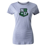Rugby Connecticut Women's Cut Shield T-Shirt (Grey)