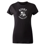 Rugby Connecticut Women's Cut Statement T-Shirt (Black)