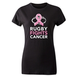 Rugby Fights Cancer Women's T-Shirt (Black)