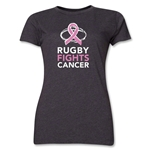 Rugby Fights Cancer Women's T-Shirt (Dark Gray)