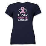 Rugby Fights Cancer Women's T-Shirt (Navy)