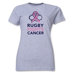 Rugby Fights Cancer Women's T-Shirt (Gray)