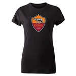 AS Roma Crest Women's T-Shirt (Black)
