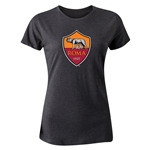 AS Roma Crest Women's T-Shirt (Dark Gray)
