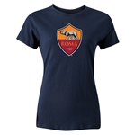 AS Roma Crest Women's T-Shirt (Navy)