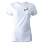 South Africa Springboks Logo Women's Rugby T-Shirt (White)
