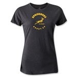 South Africa Springboks Rugby 15 Women's T-Shirt (Dark Gray)