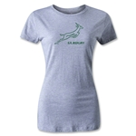 South Africa Springboks Bok Logo Women's T-Shirt (Gray)