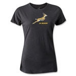 South Africa Springboks Logo Women's T-Shirt (Dark Gray)