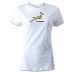 South Africa Springboks Logo Women's T-Shirt (White)