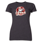 FC Santa Claus Animated Santa Women's T-Shirt (Dark Grey)