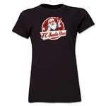 FC Santa Claus Animated Santa Women's T-Shirt (Black)