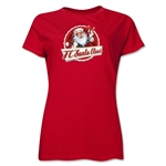 FC Santa Claus Animated Santa Women's T-Shirt (Red)