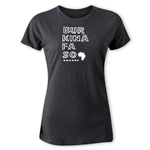 Burkina Faso Women's Country T-Shirt (Dark Gray)