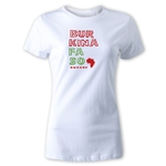 Burkina Faso Women's Country T-Shirt (White)