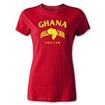 Ghana Women's Country T-Shirt (Red)